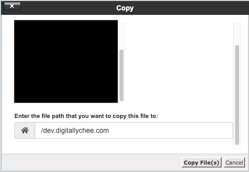 Copying Files from public_html to the Subdomain Folder