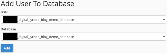 Adding a New User to a Database