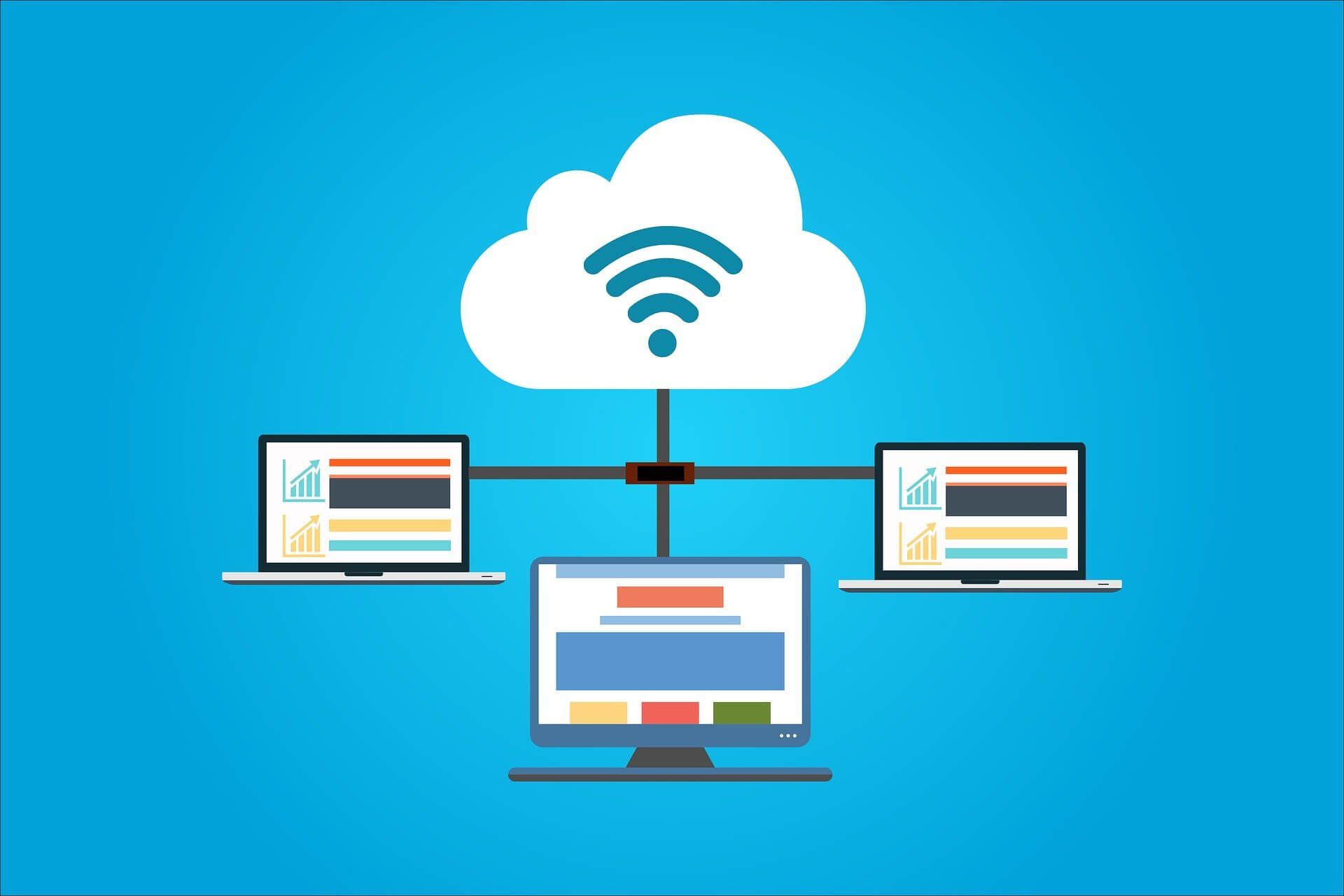 Different website on different laptops sharing one cloud-based website host
